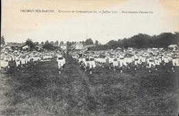 Fresnay-sur-Sarthe - Concours De Gymnastique Du 10 Juillet 1921 - Mouvement D'ensemble - Carte Non Circulée - Francia
