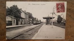 45 - CPA Belle Animation, Train PATAY (Loiret) - La Gare (Edit. Mercier, 523) - France