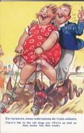 Illustration  TAYLOR--en Vacances , Nous Redevenons De Vrais Enfants --( Voir état )-voir 2 Scans - Taylor