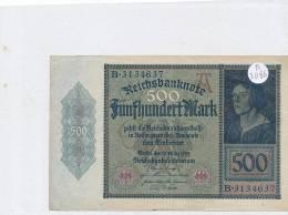 Billets -B3086- Allemagne - 500 Mark 1922 (type, Nature, Valeur, état... Voir  Double Scan) - [ 3] 1918-1933 : Repubblica  Di Weimar