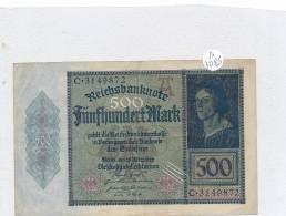 Billets -B3085- Allemagne - 500 Mark 1922 (type, Nature, Valeur, état... Voir  Double Scan) - [ 3] 1918-1933 : Repubblica  Di Weimar