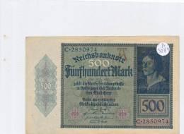 Billets -B3084- Allemagne - 500 Mark 1922 (type, Nature, Valeur, état... Voir  Double Scan) - [ 3] 1918-1933 : Weimar Republic