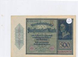 Billets -B3084- Allemagne - 500 Mark 1922 (type, Nature, Valeur, état... Voir  Double Scan) - 1918-1933: Weimarer Republik