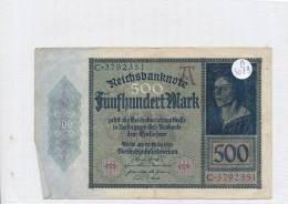 Billets -B3079- Allemagne - 500 Mark 1922 (type, Nature, Valeur, état... Voir  Double Scan) - [ 3] 1918-1933 : Repubblica  Di Weimar