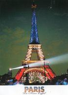 CPM - J - PARIS - LA TOUR EIFFEL ILLUMINEE - Tour Eiffel