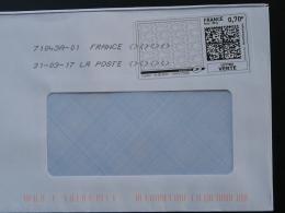 Poisson Fish Timbre En Ligne Sur Lettre (e-stamp On Cover) TPP 3683 - Fische