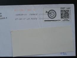 Tir à L'arc Archery Timbre En Ligne Sur Lettre (e-stamp On Cover) TPP 3725 - Boogschieten