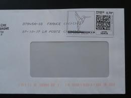 Colibri Timbre En Ligne Sur Lettre (e-stamp On Cover) TPP 3751 - Hummingbirds