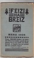 Feiz Ha Breiz. Here 1926. N°10. Ar C'Horn-Boud. Here 1926. N° 10. - Livres, BD, Revues