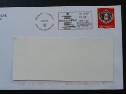 02/12/2017 Monacophil Flamme Monaco Sur Lettre Postmark On Cover - Poststempel