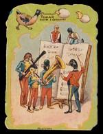 CHROMO CH. POULAIN - Musiciens - Impr. Landsberg - 130x90 Mm - Poulain