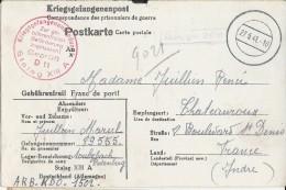 """PRISONNIERS De GUERRE - 1941 - CARTE """"KRIEGSGEFANGENENPOST"""" Du STALAG XIIIA - VOIR CENSURE - Guerre De 1939-45"""