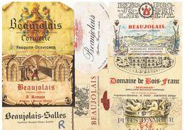 LOT 12 ETIQUETTES BEAUJOLAIS - Jarnioux Blaceret St Lager Salles St Jean Ardieres  Etc  , Récupérées Sur Bouteille - Beaujolais