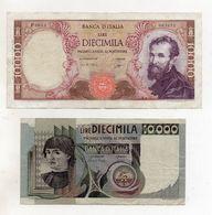 Italia - Lotto 2 Banconote Da Lire 10.000 ( Macchiavelli 3.11.1982 E Buonarroti 3.7.1962 ) - (FDC8136) - [ 2] 1946-… : Républic