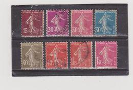 FRANCE   1924-26  Y.T. N° 189  à  196  Oblitéré - 1906-38 Semeuse Camée