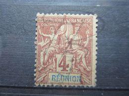 """VEND BEAU TIMBRE DE LA REUNION N° 34 , """" U """" BRISE !!! - Réunion (1852-1975)"""