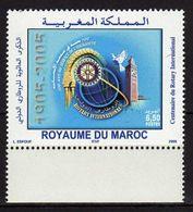 Morocco. Maroc. 2005 The 100th Anniversary Of Rotary International. MNH - Morocco (1956-...)