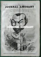 1858  LE JOURNAL AMUSANT - ALPHONSE KARR Par NADAR - LES CONTEMPORAINS DE NADAR - CARLO GRIPP - 1850 - 1899