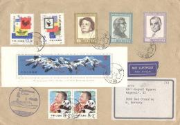 China 1688/89,2x1922,2015/17,Block 36 Auf Brief Nach Deutschland - Briefe U. Dokumente