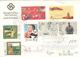 China 1922,1963,1965,2033,2035,2082,2084 Auf Brief Nach Deutschland - Briefe U. Dokumente