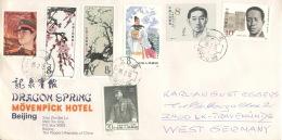 China 1969,2000,2001,2018,2081,2091,2096 Auf Brief Nach Deutschland - Briefe U. Dokumente
