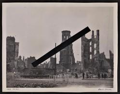 76 LE HAVRE -- Café Thiers & Eglise St Michel Aprés Les Bombardements_ 25,8cm X 20cm _ Guerre 1939-1945_ Photo Originale - Plaatsen