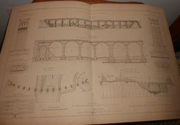 Plan Du Viaduc De La Ruhr Près De Herdecke. 1881 - Travaux Publics