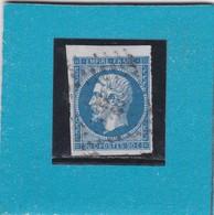 N° 14 A  PC 273  LA BASSEE  /  NORD   - REF 11940  + VARIETE + BEAU BORD DE FEUILLE SUP - 1853-1860 Napoleon III