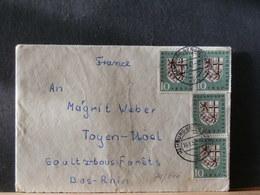 74/646   LETTRE 1957  POUR LA FRANCE - [7] Federal Republic