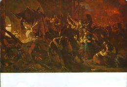 Postcard Unused - Painting By Szekely Bertalan - Zrinyi's Sally, Before,1885 - Pintura & Cuadros