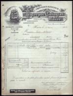 FACTURE OU LETTRE ANCIENNE DU HAVRE- 1906- ENTREPÔT COLONIAL- IMPORT. CAFÉ- BELLE ILLUSTRATION- GRAND VOILIER- 2 SCANS- - Alimentaire