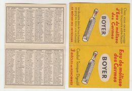 Calendrier De Poche   1953   Eau De Mélisse - Calendriers