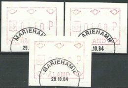 ALAND 1984 Mi-Nr. ATM 1 Satz 1 Automatenmarken O Used - Aus Abo - Aland