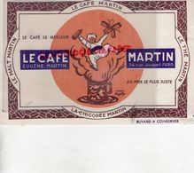 75- PARIS- BUVARD LE CAFE MARTIN- EUGENE MARTIN-34 RUE JOUBERT- CAPPIELLO-CHICOREE - Coffee & Tea