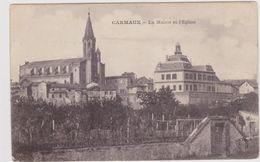 CARTE POSTALE   CARMAUX 81  La Mairie Et L'Eglise - Carmaux