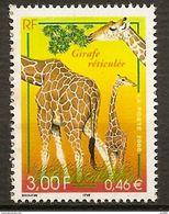 Timbre France N°3333 Girafe Réticulée De 2000 Neuf - France