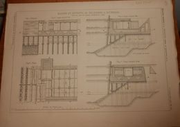 Plan De Bassins Et Entrepôt De Feijenoord à Rotterdam 1881. - Travaux Publics