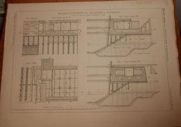 Plan De Bassins Et Entrepôt De Feijenoord à Rotterdam 1881. - Publieke Werken