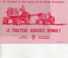 75- PARIS- BUVARD LE TRACTEUR AGRICOLE RENAULT- TRACTEURS AGRICULTURE -IMPRIMERIE BARREAU - Farm