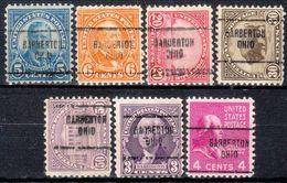 USA Precancel Vorausentwertung Preo, Locals Ohio, Barberton 704, 7 Diff., Perf. 11x10 1/2 - Vereinigte Staaten