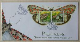 Pitcairn Islands 2007. Salt And Pepper Moth. FDC - Francobolli