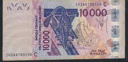 W.A.S. Burkina Faso P318Ci 10000 Francs (20)10. VF No Tear,no P.h. - Burkina Faso