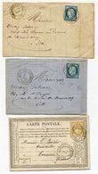 DOUBS De FESCHES LE CHATEL Dateur T17 Sur N°60 Sur 2 LAC Partielles Et Sur N°59 Sur 1 CP Du 14 19 Et 22/07/76 - Postmark Collection (Covers)