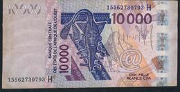 W.A.S. Niger P618Ho 10000 Francs (20)15 VF No Tear,no P.h. - Niger
