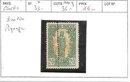 CONGO FRANCAIS N° 33 *  COTE : 35 € DOUBLE PIQUAGE - French Congo (1891-1960)