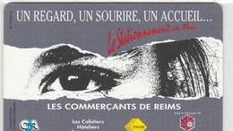 CARTE DE STATIONNEMENT PIAF.. LES COMMERCANTS DE REIMS.. 100 UNITES - France