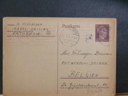 74/681   CP. ALLEMAGNE  POUR LA BELG.1944 TIMBRES HITLER  CENSURE - Deutschland