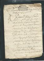 """2 Scans -  Acte  La Marche De Gueret """" Daté De 1715, Cachet Generalité De Moulin  Creuse- Fab 40 - Documents Historiques"""
