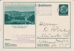 DR 3 Reich Ganzsache P 232 Bildpostkarte Oberhof Gel MWSt München 1935 - Deutschland