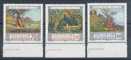Liechtenstein N°1079 à 1081** Tableaux D'Eugène Zotow - Liechtenstein